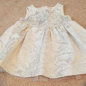 Joe fresh metallic foil look baby girl dress